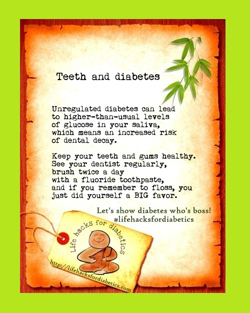 Teeth and diabetes #lifehacksfordiabetics