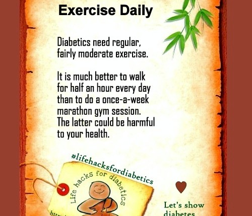 Exercise Daily LifeHacksForDiabetics