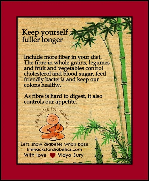 Keep yourself fuller, longer