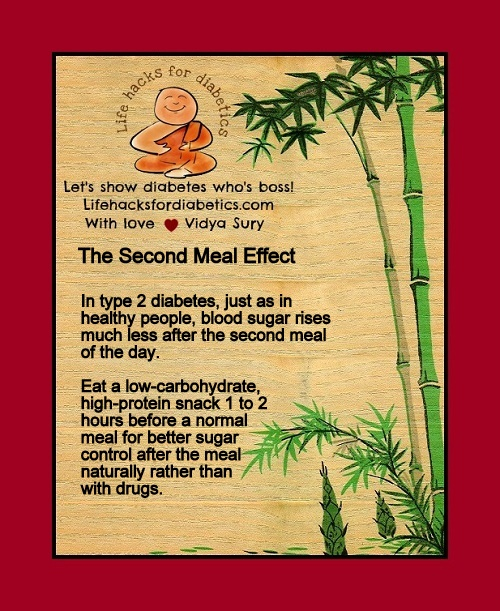 The Second Meal Effect