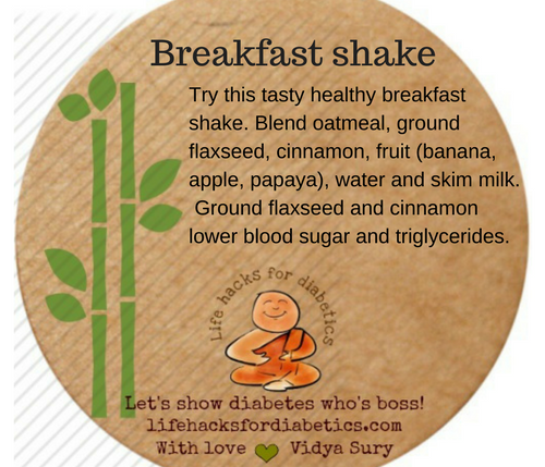 Breakfast shake #lifehacksfordiabetics