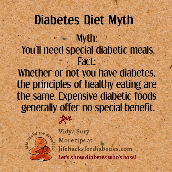 Diabetes Diet Myth #LifeHacksForDiabetics