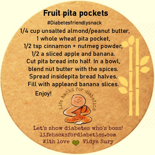 Fruit pita pockets Life hacks for diabetics
