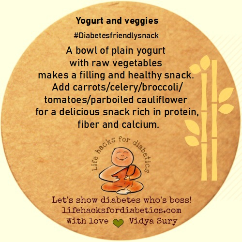Yogurt and veggies